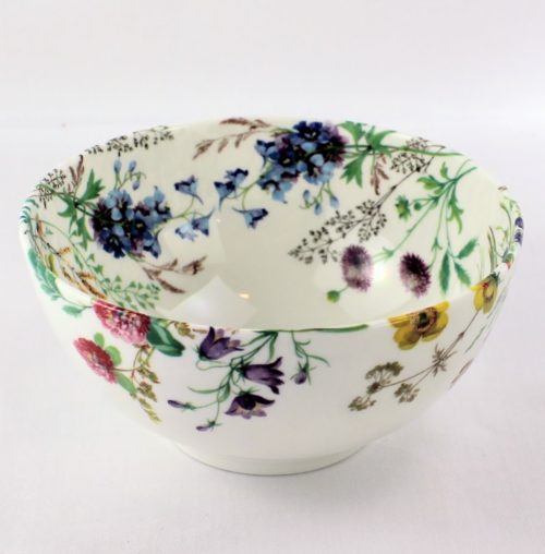 sugar bowl, field flowers, columbine, field scabious and harebell