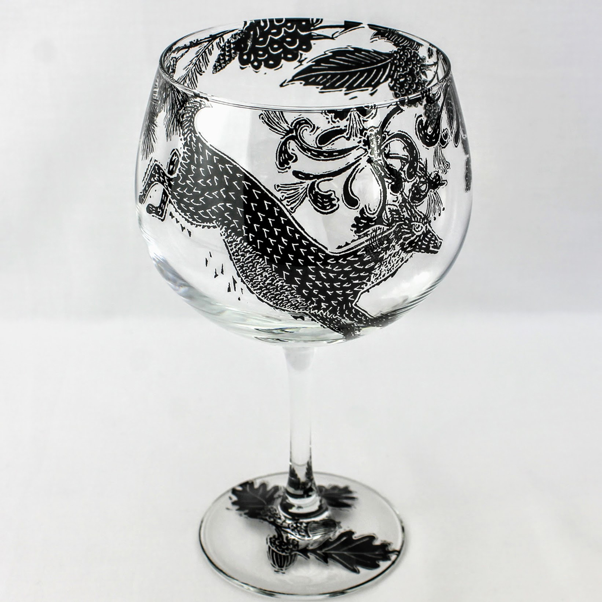 G & T glass wild wood scene with leaping deer