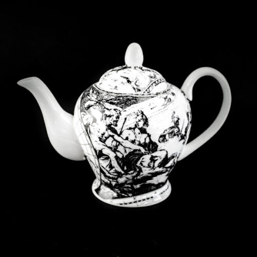 2 cup world map tea pot neoclassical scene 'air' the heavens