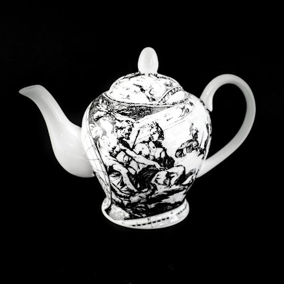 2 cup world map tea pot neoclassical scene 'air' the heavens