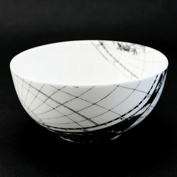 Antique world map sugar bowl