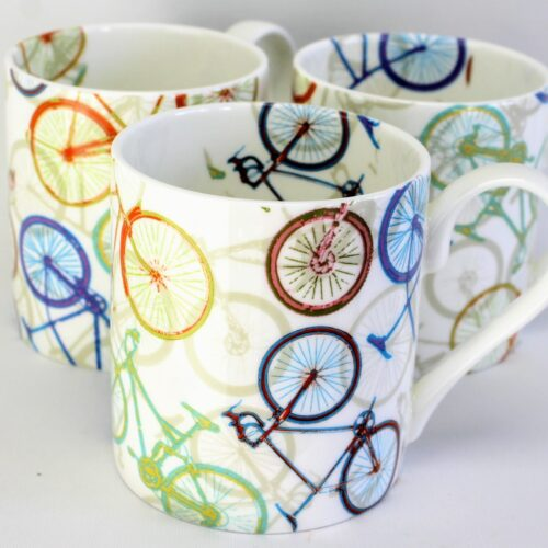 3 mugs for cyclists
