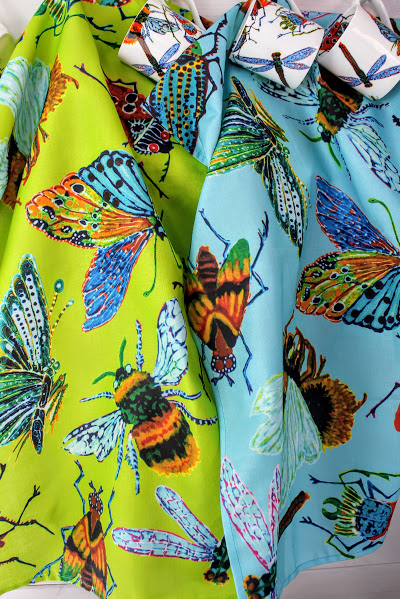 tea towels big insects, moths, bees, beetles and butterfly's
